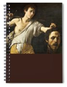David With The Head Of Goliath Spiral Notebook