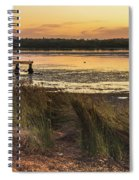 Dawn Waterscape And Wharf Spiral Notebook