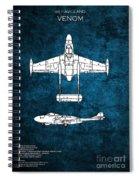 de Havilland Venom Spiral Notebook