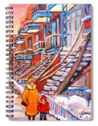 Debullion Street Winter Walk Spiral Notebook