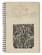 Decorative Design And Sketch Of The Front Tympanum Of The Royal Palace In Amsterdam, Carel Adolph Li Spiral Notebook