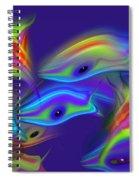 Deep Blue Marine Life Spiral Notebook