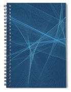 Deep Sea Computer Graphic Line Pattern Spiral Notebook