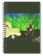 Deer Crossing Spiral Notebook