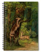 Deer In The Forest, 1868 Spiral Notebook