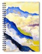 Dents Du Midi In Clouds Spiral Notebook