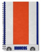 Denver Broncos Helmet Art Spiral Notebook
