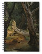 Departure For The Hunt In The Pontine Marshes Spiral Notebook