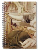 Detail Of Saint Cecilia Distributing Alms Spiral Notebook