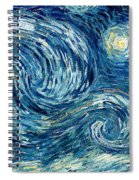 Detail Of The Starry Night Spiral Notebook