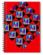 Diamond Red Spiral Notebook