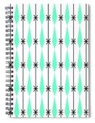 Diamonds In Aqua Spiral Notebook