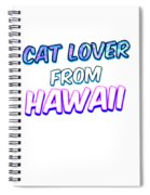 Dog Lover From Hawaii Spiral Notebook