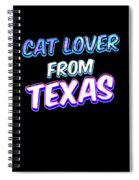 Dog Lover From Texas Spiral Notebook