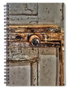 Door Latch Spiral Notebook