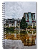 Downtown Of Greenville South Carolina Around Falls Park Spiral Notebook