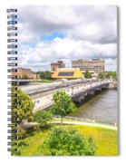 Downtown Waterloo Iowa  Spiral Notebook
