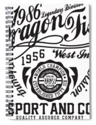 Dragon Fist 1986 Spiral Notebook