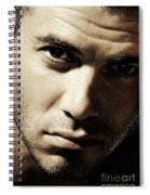 Dramatic Male Portrait Spiral Notebook