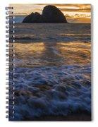 Dramatic Sunset Oregon Coast Usa Spiral Notebook