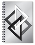 Drawn2shapes1bnw Spiral Notebook