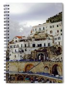 Driving The Amalfi Coast In Italy Spiral Notebook