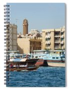 Dubai Creek And Abra Boats Spiral Notebook