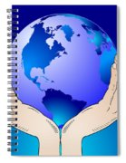 Earth In The Your Hands Spiral Notebook