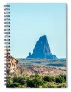 El Capitan Peak Just North Of Kayenta Arizona In Monument Valley Spiral Notebook