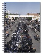 Elevated Panoramic View Of Main Street Spiral Notebook