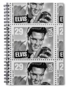 Elvis Commemorative Stamp January 8th 1993 Painted Bw Spiral Notebook