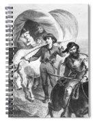 Emigrants To West, 1874 Spiral Notebook