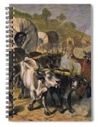 Emigrants To West, 19th C Spiral Notebook
