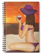 Enjoy The Beach Spiral Notebook