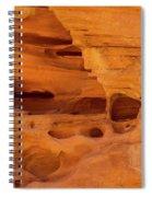 Eroded Sandstone Valley Of Fire Spiral Notebook