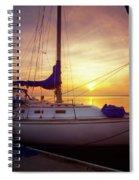 Evening Harbor At Rest Spiral Notebook
