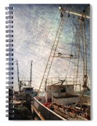 Evening In The Harbor Spiral Notebook