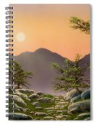 Evening Moonrise Spiral Notebook