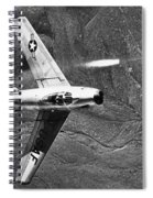 F-86 Jet Fighter Plane Spiral Notebook