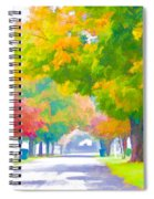 Fall In Holly Hill Spiral Notebook