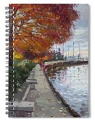 Fall In Port Credit On Spiral Notebook