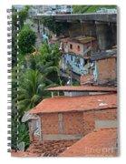 Favela In Salvador Da Bahia Brazil Spiral Notebook