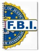 Fbi Seal Mockup Spiral Notebook