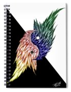 Feathered Ying Yang  Spiral Notebook
