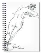 Female Figure Drawing Standing Pose Fountain Pen Ink  Spiral Notebook