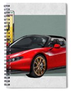 Ferrari Sergio With 3d Badge  Spiral Notebook