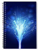 Fiber Optics And Circuit Board Spiral Notebook