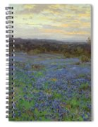 Field Of Bluebonnets At Sunset Spiral Notebook