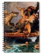 Fighting On A Bridge  Spiral Notebook