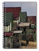 Film Homage Mae Marsh Miner's Coal Company Homes Ghost Town Madrid New Mexico Color 1968-2008 Spiral Notebook